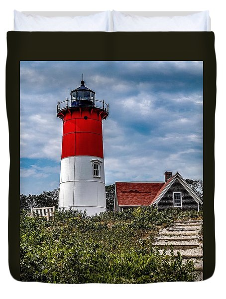 Duvet Cover featuring the photograph The Lighthouse by Kendall McKernon