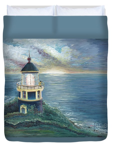 The Lighthouse Duvet Cover by Nadine Rippelmeyer