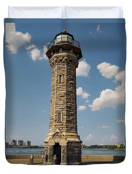 The Lighthouse Roosevelt Island Duvet Cover