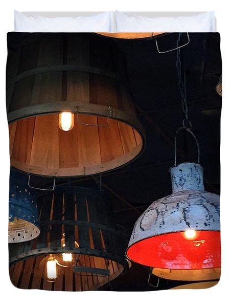 The Lights Above Duvet Cover