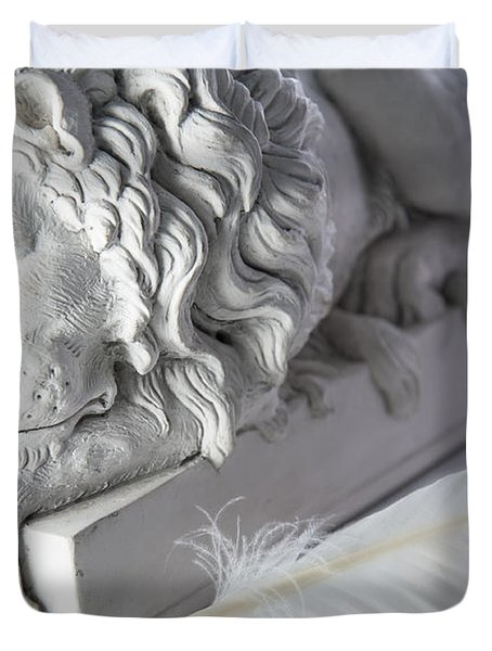 The Lion And The Feather Duvet Cover