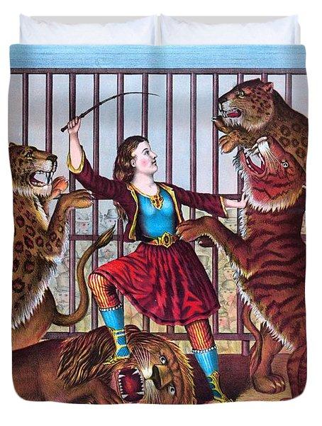 The Lion Queen Print, 1874 Duvet Cover