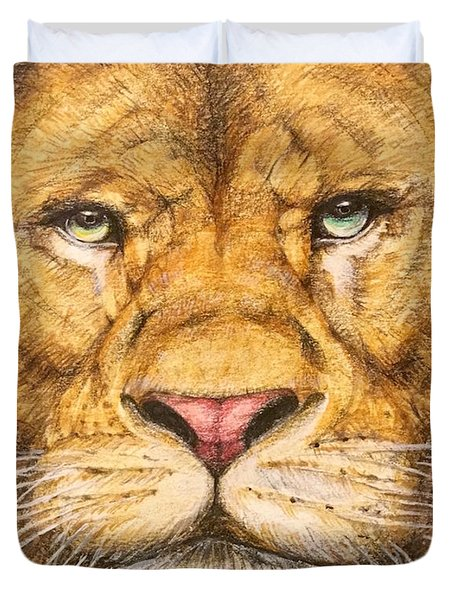 The Lion Roar Of Freedom Duvet Cover by Kent Chua
