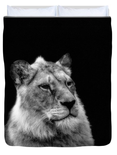 The Lioness Sitting Proud Duvet Cover
