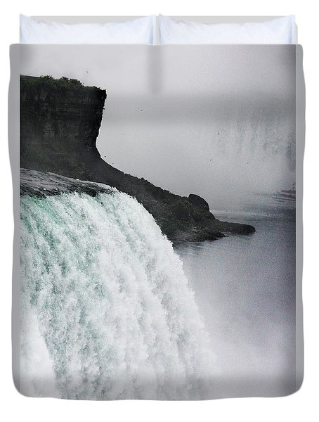 Duvet Cover featuring the photograph The Liquid Curtain by Dana DiPasquale
