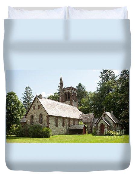 The Little Brown Church In The Vale Duvet Cover by Carol Lynn Coronios