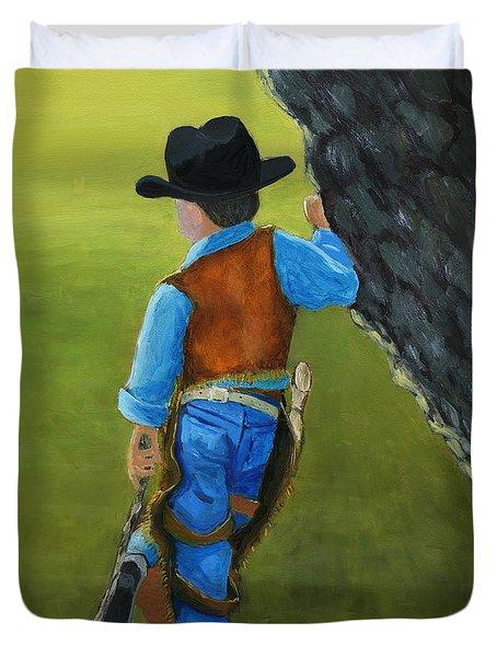 The Little Cowboy Duvet Cover