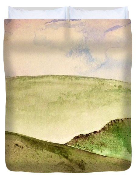 The Little Hills Rejoice Duvet Cover