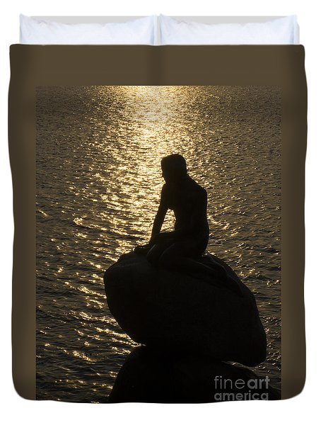 Duvet Cover featuring the photograph The Little Mermaid by Inge Riis McDonald