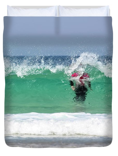 Duvet Cover featuring the photograph The Little Mermaid by Terri Waters