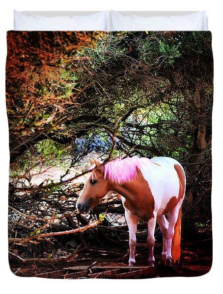 The Little Pink Unicorn By Pedro Cardona Duvet Cover by Pedro Cardona Llambias