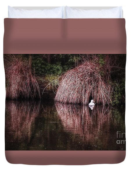 The Little White Duck Duvet Cover by Isabella F Abbie Shores FRSA