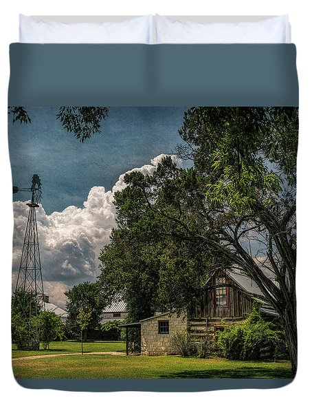 The Little Winery In Stonewall Duvet Cover