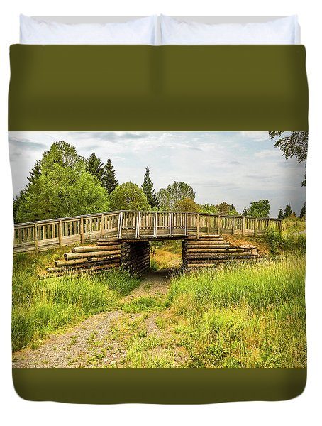 The Little Wooden Bridge Duvet Cover