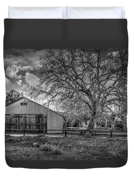 The Livery Stable And Oak Duvet Cover