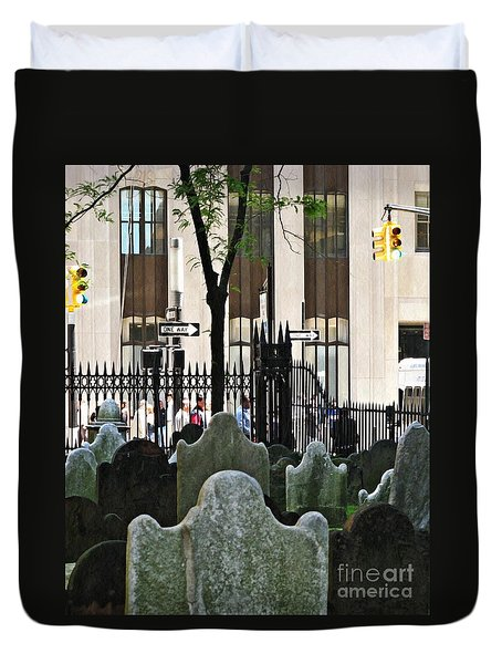 The Living And The Dead Duvet Cover by Sarah Loft