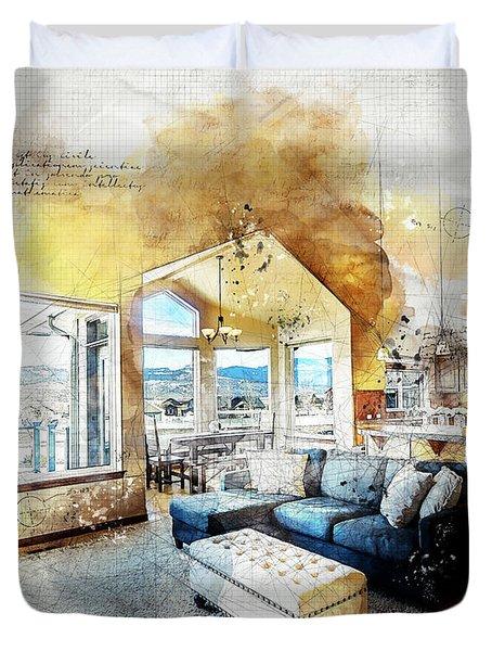 The Living Room Duvet Cover