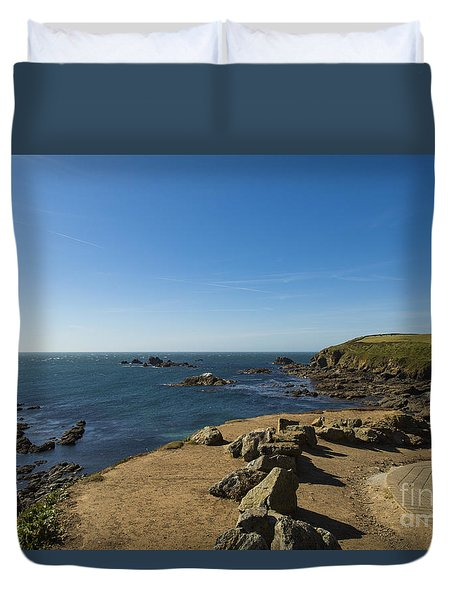 Duvet Cover featuring the photograph The Lizard Point by Brian Roscorla
