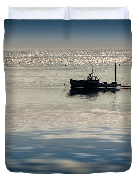The Lobster Boat Duvet Cover by Rick Berk
