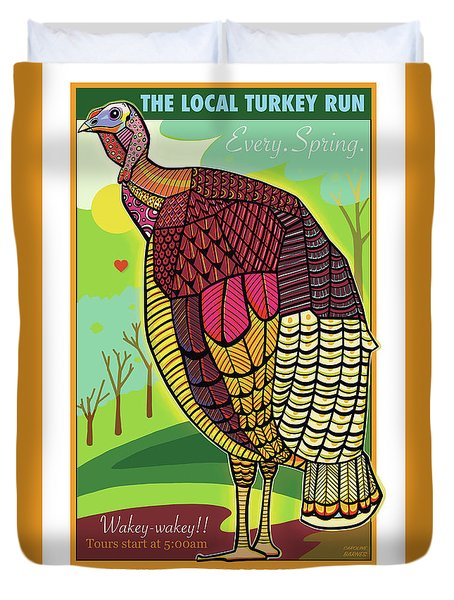 The Local Turkey Run Duvet Cover