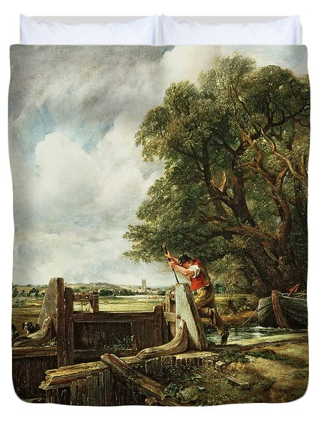 The Lock Duvet Cover by John Constable