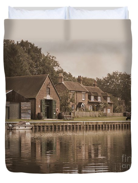 The Lock Keeper's Cottage Duvet Cover by Terri Waters