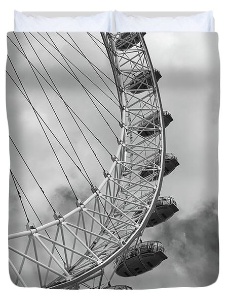 The London Eye, London, England Duvet Cover