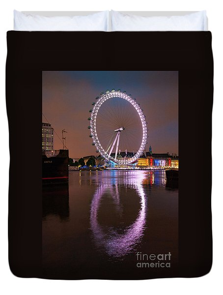 The London Eye Duvet Cover by Nichola Denny