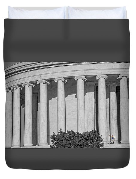Duvet Cover featuring the photograph The Lone Ballerina by Mark Dodd