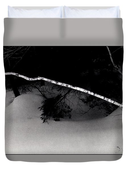 The Lone Birch Duvet Cover