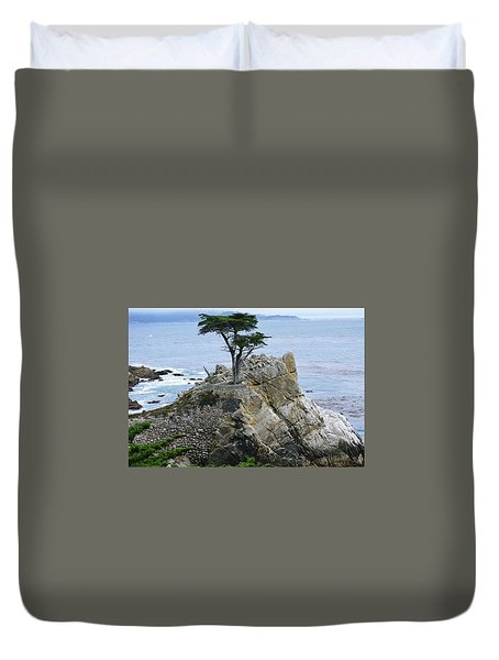 The Lone Cypress Duvet Cover