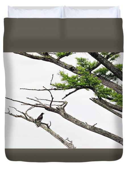 The Lone Osprey Duvet Cover