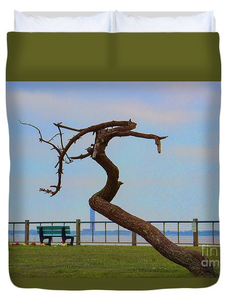 The Lone Tree Duvet Cover by Roberta Byram