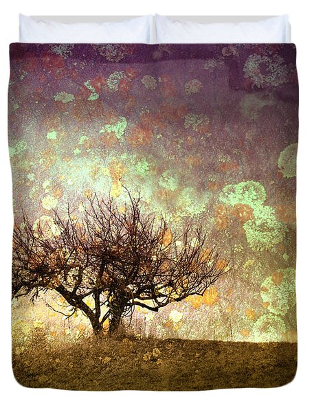 The Lone Tree Duvet Cover by Tara Turner