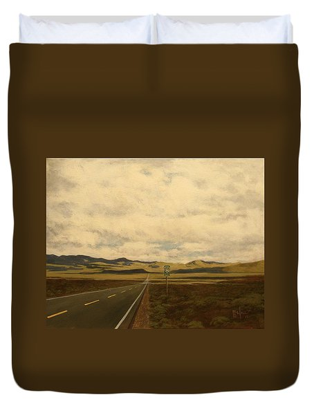 The Loneliest Road Duvet Cover