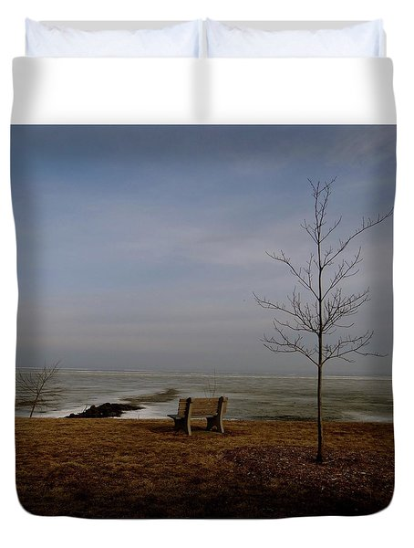 The Lonely Bench Duvet Cover