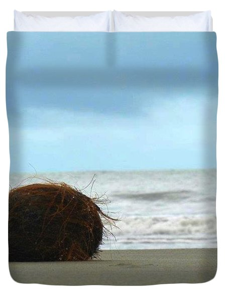 The Lonely Coconut Duvet Cover