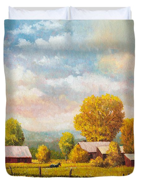 The Lonely Horse Duvet Cover