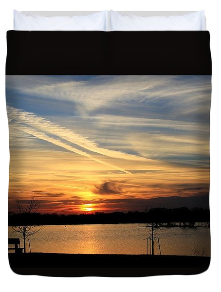 The Lonely Sunset Duvet Cover