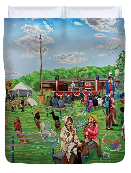 The Long Island Fair At Old Bethpage Restoration Duvet Cover