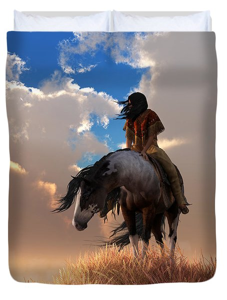 Duvet Cover featuring the digital art The Long Journey Home by Daniel Eskridge