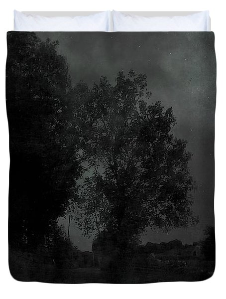The Long Road Into The Night Duvet Cover