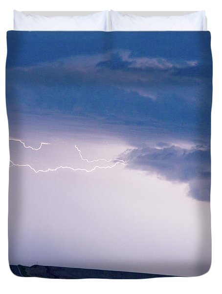 The Long Road Into The Storm Duvet Cover by James BO  Insogna