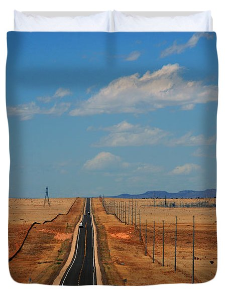 The Long Road To Santa Fe Duvet Cover by Susanne Van Hulst