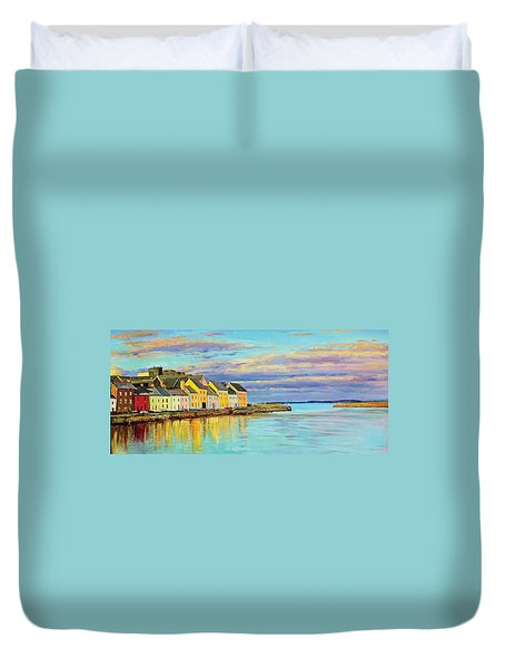 The Long Walk Galway Duvet Cover by Conor McGuire