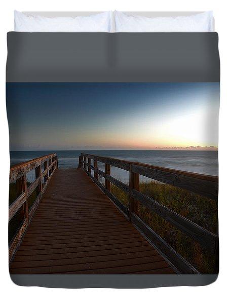 The Long Walk Home Duvet Cover