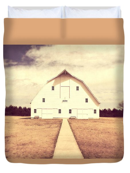 Duvet Cover featuring the photograph The Long Walk by Julie Hamilton