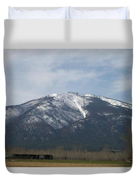 Duvet Cover featuring the photograph The Longshed by Jewel Hengen