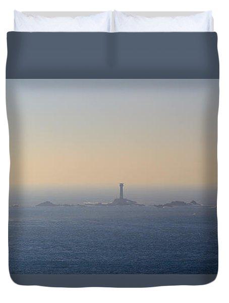 The Longships Lighthouse Cornwall Duvet Cover