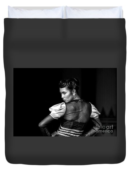 The Look Duvet Cover by Charuhas Images